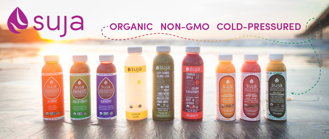Suja served at Yoga in the Park on 7/18
